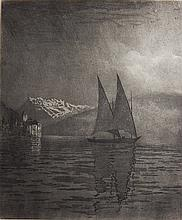 George E. Burr etching and aquatint