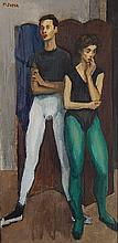 Moses Soyer oil