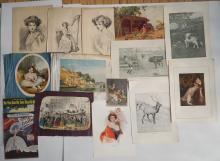 25 Miscellaneous prints, as is