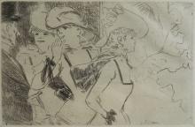 Jean Luis Forain etching