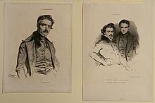 Jean Gigoux 2 lithographs