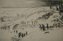 Walther Klemm etching & drypoint