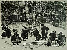 Alfred Bendiner lithograph