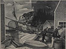 Ernest Fiene lithograph