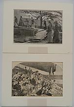 after Winslow Homer 2 wood engravings