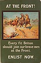 WWI Poster - ''At The Front''