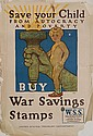 WWI Poster- ''Save Your Child Buy War Savings...
