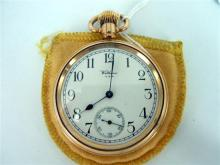 A WALTHAM GOLD-FILLED POCKETWATCH,  open-faced 'Star' pocket watch.