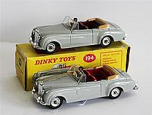 TWO DINKY TOYS, 'BENTLEY 'S2' COUPE', 194, BOXED. (2)