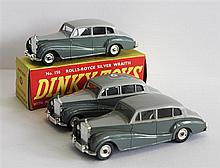 SIX DINKY TOYS, 'ROLLS ROYCE SILVER WRAITH', 150, FIVE BOXED. (6)