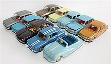 TEN DINKY TOYS MODEL CARS, INCLUDING 'RENAULT R16' AND 'AUSTIN SOMMERSET', (10).