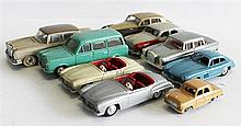 A LOT OF VARIOUS MODEL CARS, INCLUDING FREGATE, MARKLIN, VEREM, AND A DUBLO DINKY 'FORD PREFECT' 061, (9).