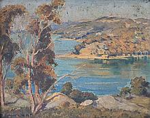 HARRY WANN (?-1952)  'MIDDLE HARBOUR'  Oil.  Signed lower left.  30 x 40cm.