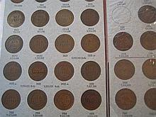 *AUSTRALIA: 39 pennies 1911-1942, in album.