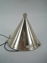 A TIFFANY & Co. SILVER DUNCE'S CAP, plain conical with ball finial. Height 8.5cm.