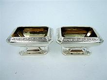 A PAIR OF SILVER VICTORIAN SALTS by Atkin Bros - Harry Atkin, Sheffield, 1881.