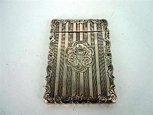 A SILVER VICTORIAN CARDCASE by Yapp & Woodward, Birmingham, 1853.
