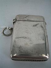 AN AUSTRALIAN SILVER MATCH CASE, plain; E.C., c.1930.