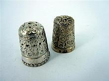 TWO SILVER THIMBLES; Chester and Birmingham. (2)