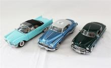 THREE FRANKLIN MINT MODELS, including 1949 Buick Riviera and 1951 Hudson Hornet.