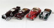 FOUR FRANKLIN MINT MODELS, including 1935 Duesenberg J550.