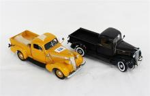 TWO DANBURY MINT PICKUP MODELS, including 1937 Studebaker pickup.