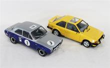 TWO FORD ESCORT MODELS, Minichamps and Sunstar.