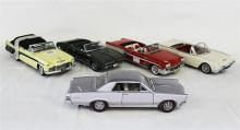 FIVE VARIOUS MODELS, including 1958 Pontiac Bonneville Convertible, and 1962 Ford Thunderbird.