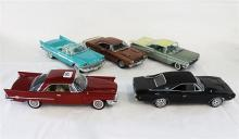 FOUR DANBURY MINT AND A WEST COAST MODEL, including 1957 Chrysler New Yorker Convertible.