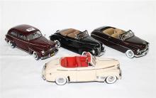 FOUR VARIOUS MODELS, including Danbury Mint 1947 Ford Super Deluxe Tudor Sedan.