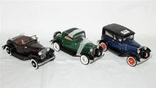 THREE VARIOUS FORD MODELS, including Franklin Mint 1932 Deuce Coupe.