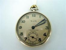A STERLING SILVER TUDOR POCKETWATCH, c.1930. Stamped Rolex Standard to the inner case. Weight all-in 42.2g.