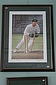 COLOURED PORTRAIT OF IAN HEALY EFFECTING A STUMPING By D'Arcy Doyle.  Signed lower right by the artiest and lower left by Ian Healy...
