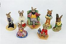 TEN ROYAL DOULTON 'BUNNYKINS' FIGURES. (10)