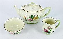 A ROYAL DOULTON PART TEA SET, 'Moss Rose', AND SUNDRY CHINA. (qty)
