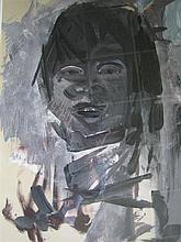 TOM GLEGHORN (born 1925) 'PORTRAIT - ABORIGINAL GIRL' Monochrome gouache. Signed and dated lower right '60.  53 x 37cm.