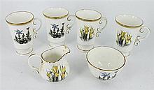 A ROYAL WINTON CHINA COFFEE SET of ten pieces.