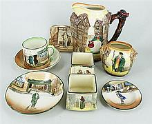 NINE VARIOUS ROYAL DOULTON PIECES. (9)