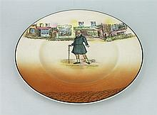 FOURTEEN ROYAL DOULTON 'DICKENS WARE' DINNER PLATES. (14)