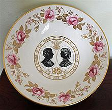 A COAPLORT CHINA BOWL commemorating the marriage of His Royal Highness Prince Charles and Lady Diana Spencer; Limited Edition 379/50...