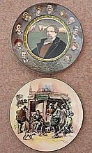 TWO ROYAL DOULTON PLATES, Charles Dickens and Characters. (2)