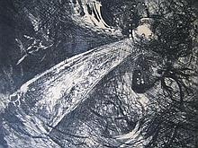 ARTHUR MERRIC BLOOMFIELD BOYD 'FALLING FIGURE WITH BEAST'S HEAD' Etching, edition of 25. Signed lower right. 35 x 40cm.