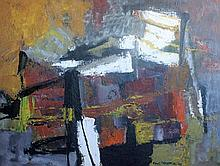 FRANK HODGKINSON (1919-2001) 'ABSTRACT 58'. Oil on board. Signed and dated lower right '58. 92 x 69cm.