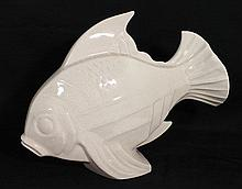 A  LE JAN CERAMIC FISH. ht 30cm.