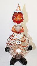 A MURANO ART GLASS CLOWN DECANTER, ht 35cm.