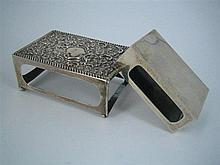 TWO SILVER MATCHBOX SLEEVES; Walker & Hall, one 1901. (2) Length of larger 7.5cm.