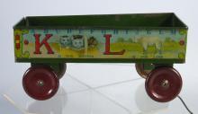 Early Ohio Art Lithographed Tin ABC Wagon