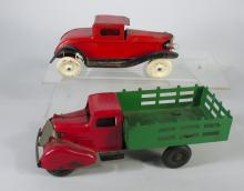 Marx and Wyandotte Coupe & Stake Truck