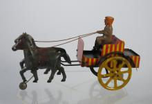 Very Early Marx Horse Drawn Carriage & Standing Driver