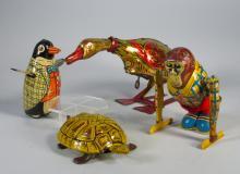 Tin Toy Lot Linemar, Lehmann, Marx, Chein